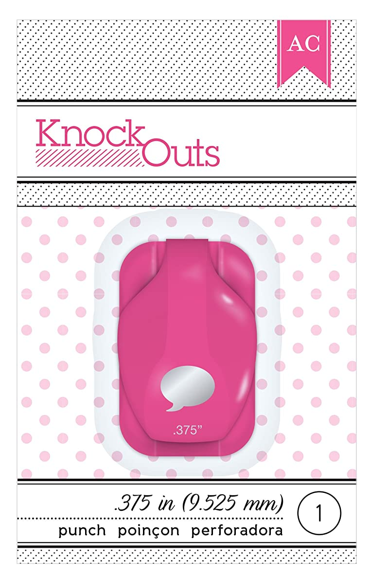 American Crafts Knock Outs Mini Word Bubble Punch, 3/8