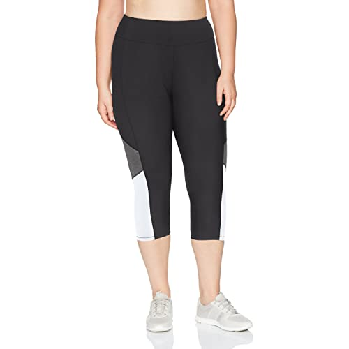 20af1f6fa00ac Just My Size Women's Plus Size Active Pieced Stretch Capri