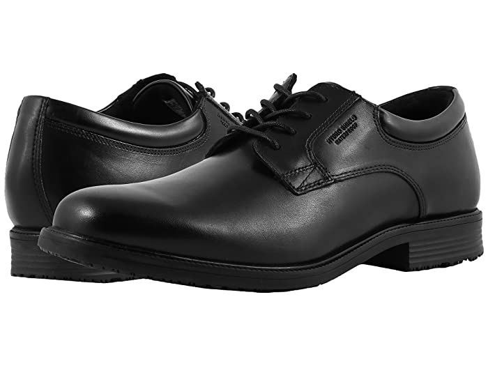 Rockport  Essential Details Waterproof Plain Toe Oxford (Black) Mens Shoes