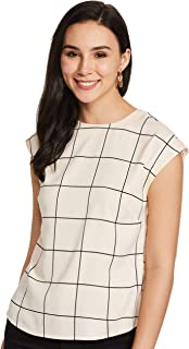 Amazon Brand - Symbol Women's Checkered Regular fit Shirt
