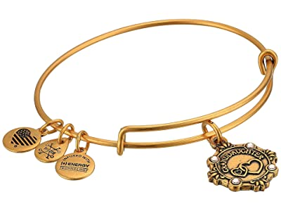 Alex and Ani Because I Love You Granddaughter III Bangle (Rafealian Gold) Bracelet