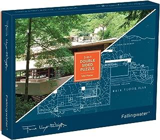Galison Frank Lloyd Wright Fallingwater 500 Piece Double Sided Jigsaw Puzzle,