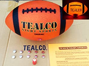 TealCo Full-Size & Weight, Tough Light-Up Football (LED-lighted – Better Than..