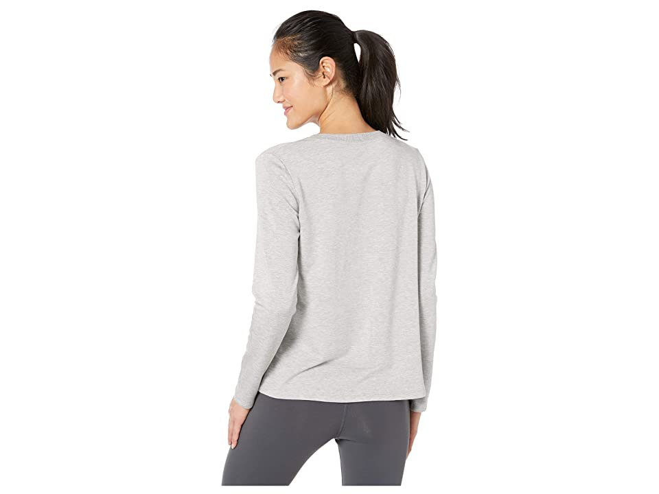 Beyond Yoga Lace-Up Pullover (Light Heather Gray) Women's Clothing