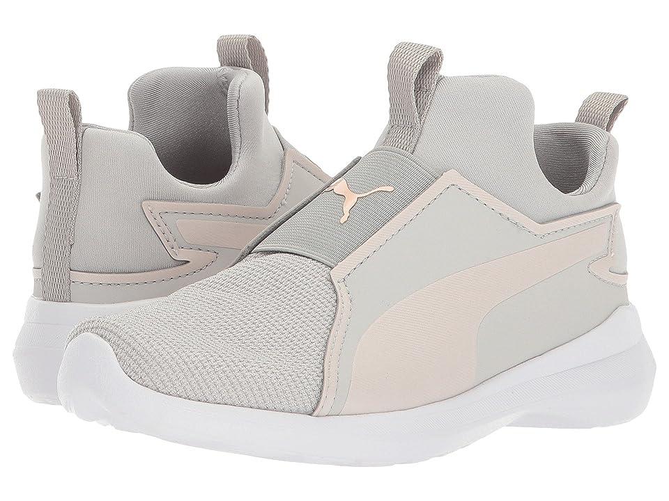 Puma Kids Rebel Mid Gleam (Little Kid) (Grey Violet/Pearl) Girls Shoes