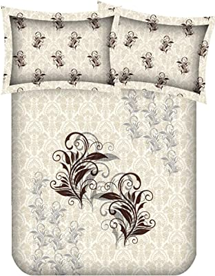 SB MAPS Morocco Designer Double Bed Bed Sheet with 2 Pillow Covers