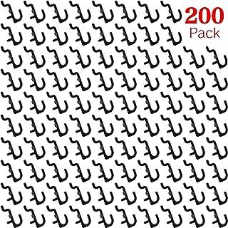Pegboard Hooks 200-packs J Shape Peg Hooks Black Peg Hook Accessories