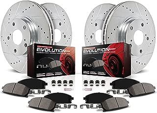 Power Stop K1693 Front & Rear Brake Kit with Drilled/Slotted Brake Rotors and Z23 Evolution Ceramic Brake Pads