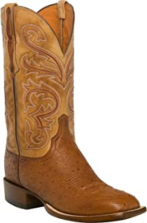 Men's Handmade Lance Smooth Ostrich Horseman Boot Square Toe - Cl1028.W8
