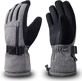 RIVMOUNT Winter Ski Gloves for Men Women,3M Thinsulate Keep Warm Waterproof Gloves for Cold Weather Outside RSG602