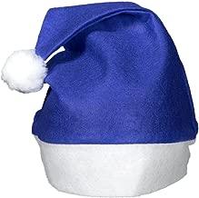 (12 Pack) Blue Felt Christmas Santa Hats