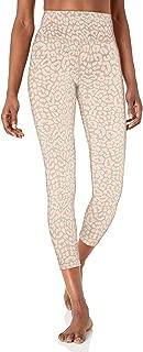 "Amazon Brand - Core 10 Women's Leopard Jacquard Yoga High Waist 7/8 Crop Fashion Legging-24"""