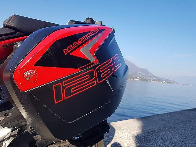 Kit 2 Sticker Cases SeitenfÄlle Ducati Multistrada 1260 Light Style Auto