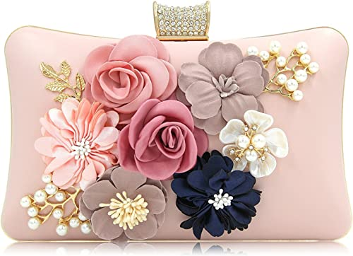 PARADOX (LABEL) Women Flower Clutches Evening Handbags Wedding Clutch Purse product image