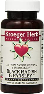 Kroeger Herb Black Radish and Parsley Capsules, 100 Count