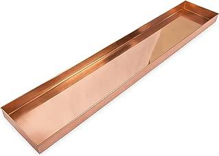 Achla Designs Long Copper Rectangular Windowsill Plant Tray, 29-in