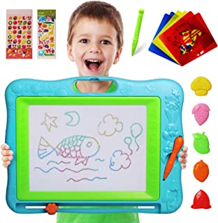 Gamenote Extra Large Magnetic Drawing Board 18×13 with Stamps & Stencils &..