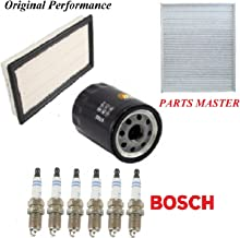 8USAUTO Tune Up Kit Air Cabin Oil Filters Spark Plug Fit FORD TAURUS V6 3.5L 2010-2016