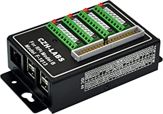 CZH-LABS RPi Screw Terminal Block Breakout Module with Aluminum Enclosure. for Raspberry Pi 1 2 3 Model B/B+