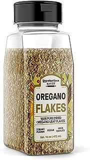Dried Oregano Leaf Flakes, 4 oz., by Unpretentious Baker, Rich in Vitamins, Minerals & Flavor, Versatile Ingredient in Home Remedies & Cooking, Convenient Shaker Bottle