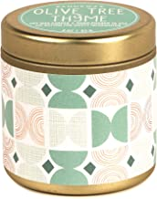 Paddywax Kaleidoscope Collection Scented Travel Tin Candle, 3-Ounce, Olive Tree & Thyme