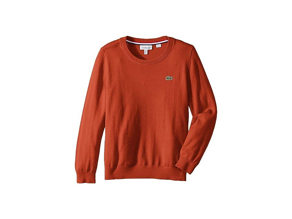 Lacoste Kids Long Sleeve Crewneck Sweater (Toddler/Little Kids/Big Kids) (Lighthouse Red) Boy