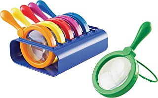 Learning Resources LER2884 Primary Science Jumbo Magnifiers with Stand 4-1/2 in dia