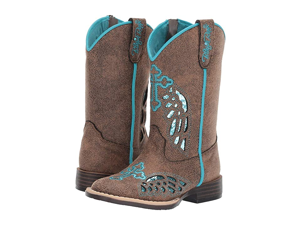 M&F Western Kids Gracie (Toddler/Little Kid) (Tan/Black/Turquoise) Cowboy Boots