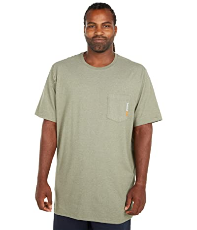 Timberland PRO Extended Base Plate Blended Short Sleeve T-Shirt (Burnt Olive Heather) Men