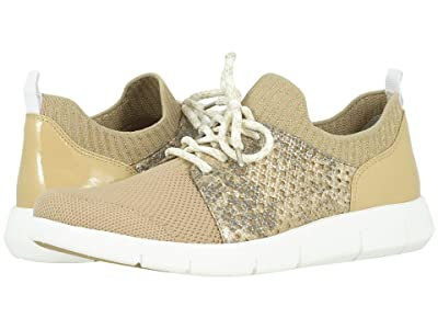 Johnston & Murphy Tamara Perf (Tan Knit/Gold Metallic Snake-Print Leather) Women
