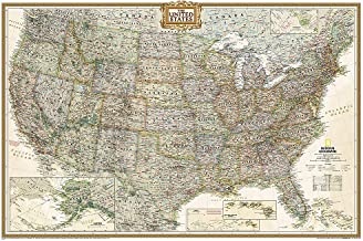 National Geographic: United States Executive Wall Map (Poster Size: 36 x 24 inches)..