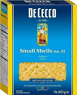 De Cecco Semolina Pasta, Small Shells No.52,  1 Pound (Pack of 5)