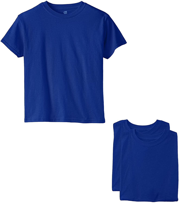 Hanes Boys' Essentials Short Sleeve T-shirt Value Pack (3-pack)