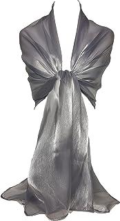 GFM Marken Schal schimmernd, irisierend, Stola, ideal für Abend, Hochzeit, Partys, Brautjungfern, Bridal Wear oder Braut oder Ball Proms