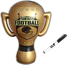 Blow Trophy Inflatable Fantasy Football Trophy, Huge Gold Fantasy Trophy 24 inch Tall 20 inch Wide, Blow Up Trophy, Funny Custom First Last Place Perpetual Fantasy Football League Champion Award
