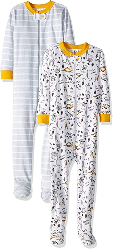 Gerber Baby Boys 2 Pack Footed Unionsuit