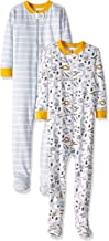 Gerber Baby Boys` 2-Pack Footed Unionsuit