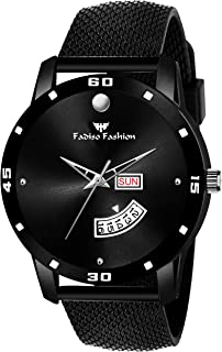 FF8126-BK Black Mesh Strap Day & Date Functioning Men Analog Watch - for Boys