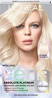 L'Oréal Paris Feria Multi-Faceted Shimmering Permanent Hair Color, Extreme Platinum, 1 kit Hair Dye