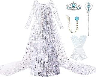Sponsored Ad - JerrisApparel Girls Princess Costume Birthday Party Christmas Fancy Dress up
