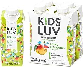 KidsLuv Vitamin Enhanced drinks, Pack of 16, Flying Fla-Mango, Zero Sugar, Certified Non-GMO, Vegan and Kosher, 8 ounce, R...