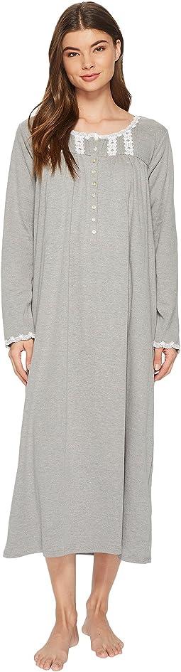 Eileen West - Heather Interlock Ballet Long Sleeve Nightgown