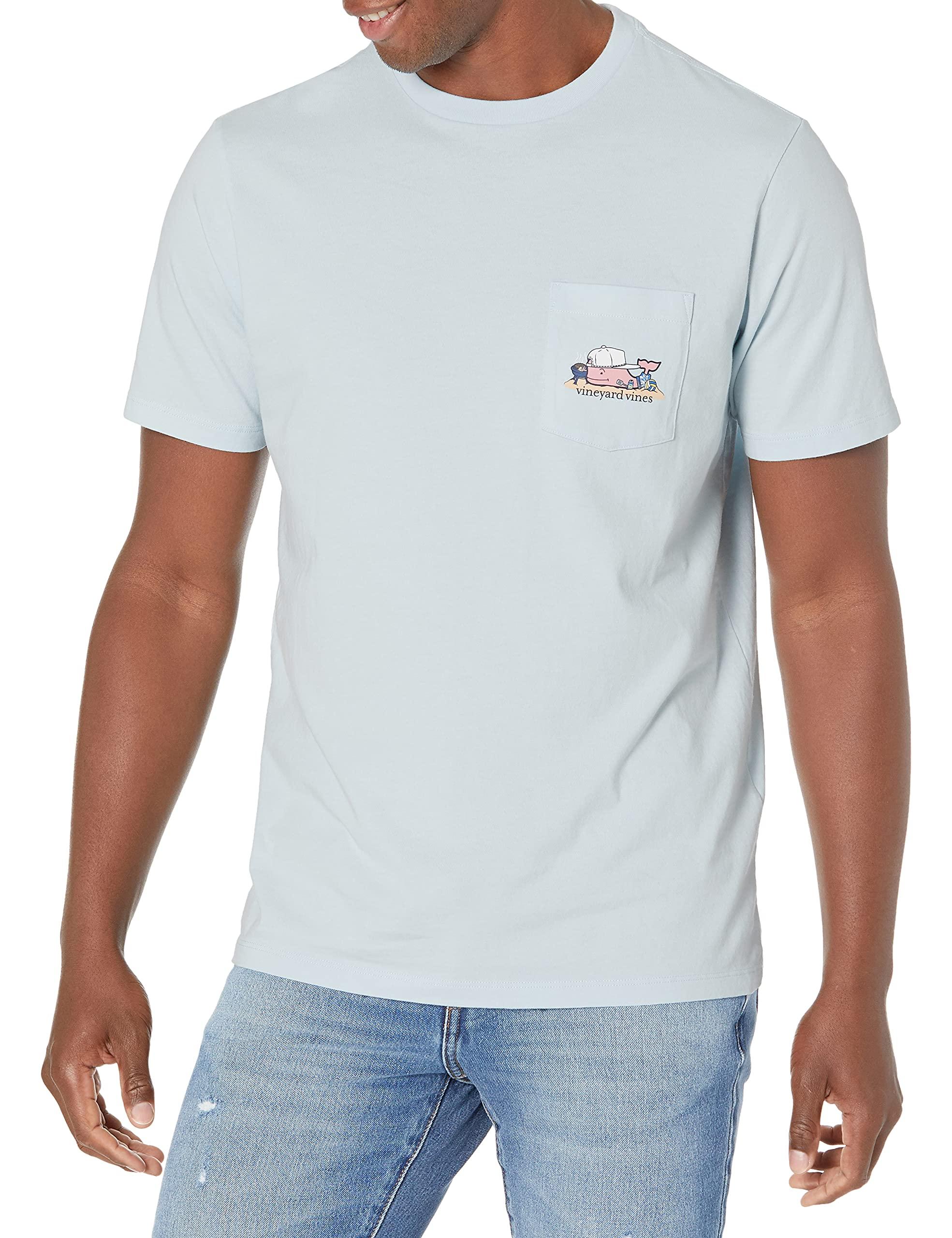 Men's Short Sleeve Beach BBQ Whale Pocket T-Shirt