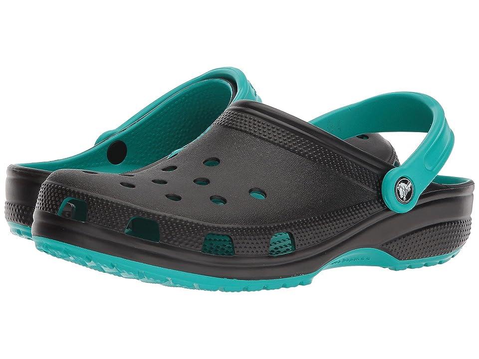 Crocs Classic Carbon Graphic Clog (Tropical Teal) Shoes
