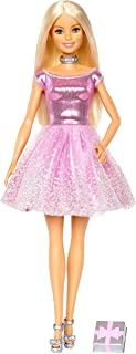 Barbie Happy Birthday Doll, Blonde, Wearing Shimmery Pink...