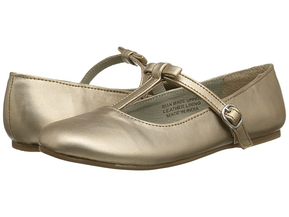 Pazitos T-Bow MJ PU (Little Kid) (Champagne) Girls Shoes
