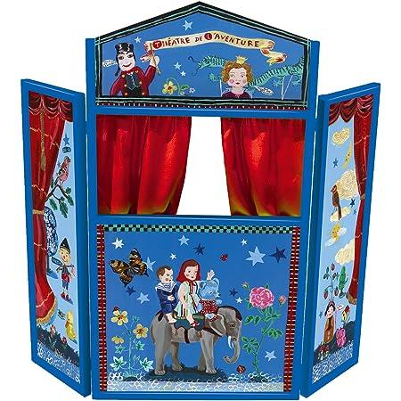 VILAC - Jouet en bois - Théatre de l'aventure Nathalie Lété - Théatre de marionnettes pliable - Dimensions : 117 x 122 cm- Dès 3 ans - 8608