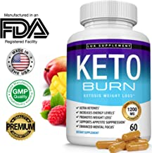 Keto Burn Pills Ketosis Weight Loss - 1200 Mg Ultra Advanced Natural Ketogenic Fat Burner Using Ketone Diet, Boost Energy Focus & Metabolism Appetite Suppressant, Men Women 60 Capsules, Lux Supplement