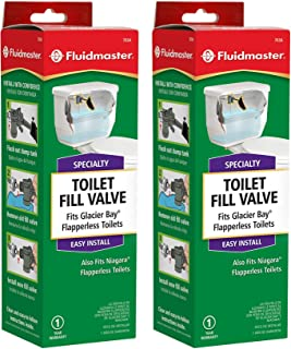 Fluidmaster IUYEHDUH 703AP4 Specialty Toilet Fill Valve for Glacier Bay and Niagara Conservation Flapperless Toilets 2 Pack