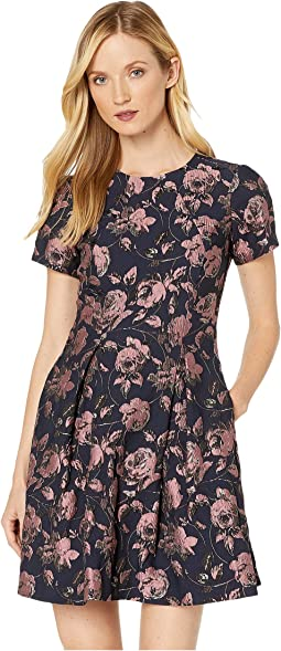 Vince Camuto V Neck Pleated Faux Wrap Dress 6pm